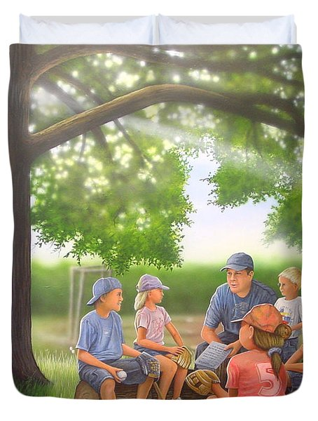Pass It On - Baseball Duvet Cover
