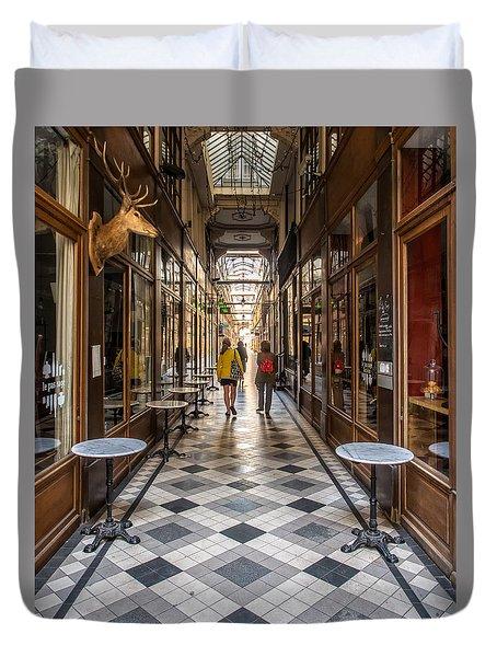 Passage Du Grand Cerf Duvet Cover