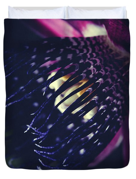 Passiflora Alata - Winged Stem Passion Flower - Ruby Star - Ouva Duvet Cover by Sharon Mau