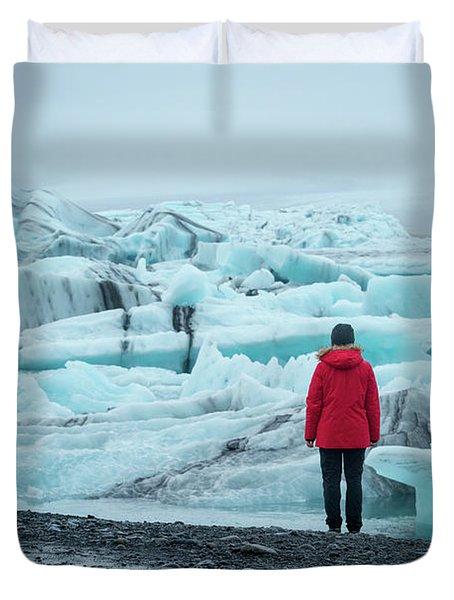 Passing Icebergs  Duvet Cover