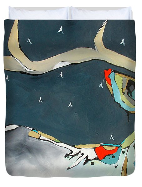 Passing In The Night Duvet Cover