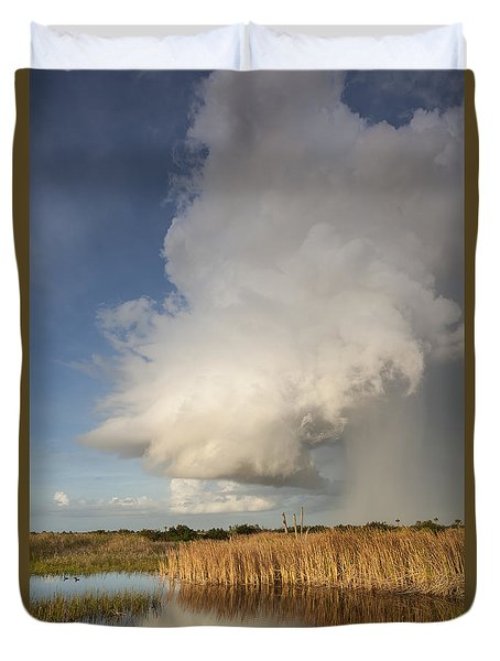 Passing Late Afternoon Rain Shower Duvet Cover