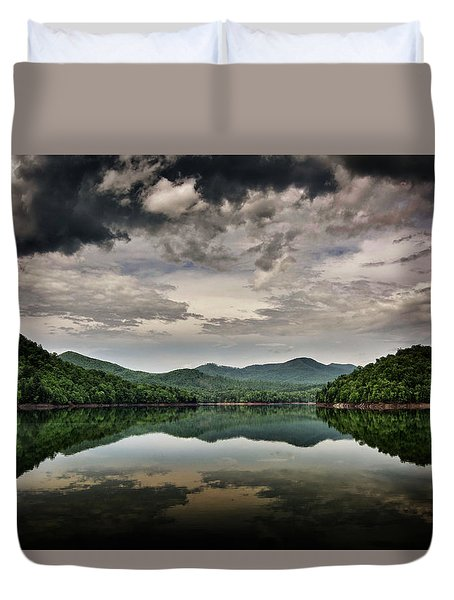 Passing Storm Over Lake Hiwassee Duvet Cover