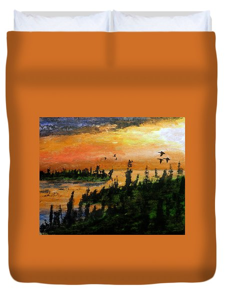 Passing The Rugged Shore Duvet Cover by R Kyllo
