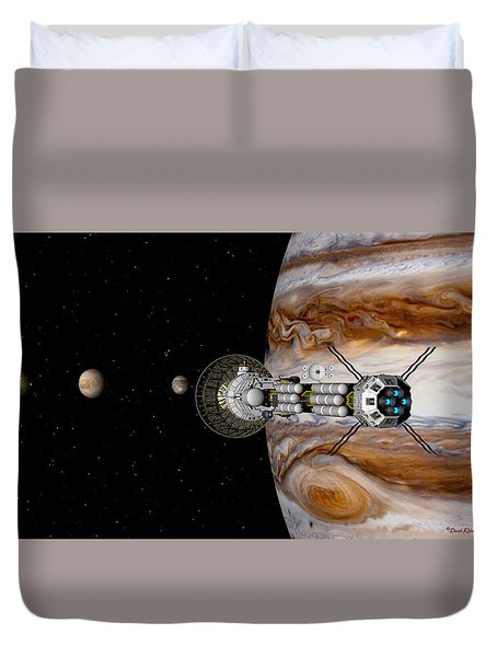 Duvet Cover featuring the digital art Passing The Storm by David Robinson