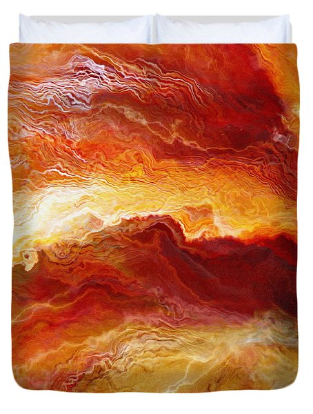 Passion - Abstract Art - Triptych 1 Of 3 Duvet Cover