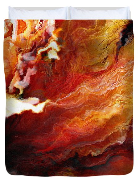 Passion - Abstract Art - Triptych 3 Of 3 Duvet Cover