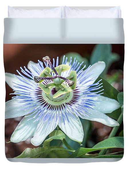 Duvet Cover featuring the photograph Passion Flower by Cathy Donohoue