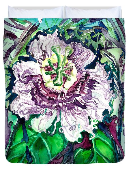 Passion Flower Duvet Cover