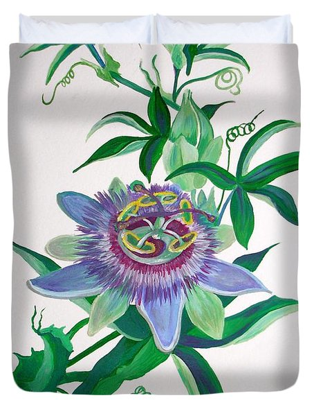 Passion Flower Duvet Cover by Tracey Harrington-Simpson