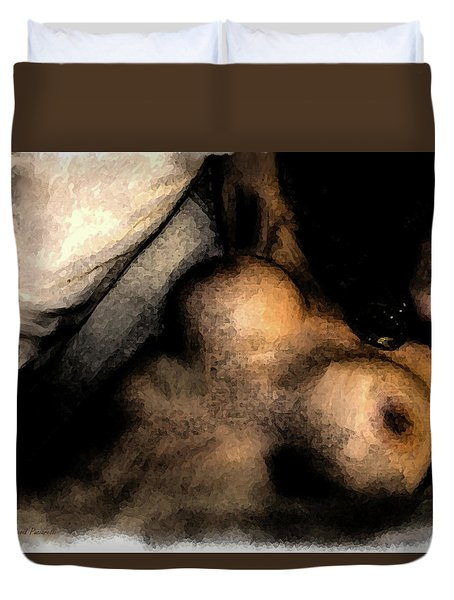 Duvet Cover featuring the painting Passion by Iconic Images Art Gallery David Pucciarelli
