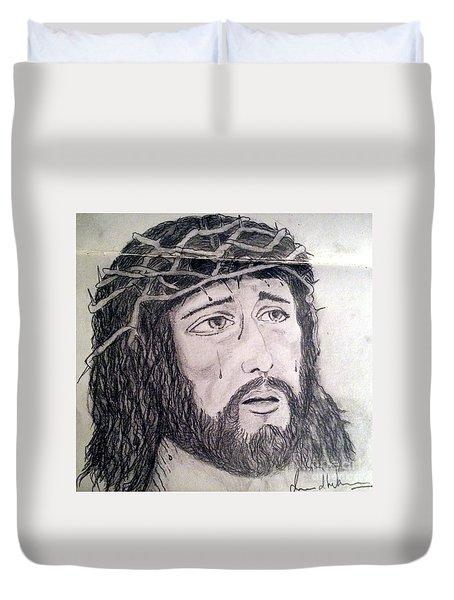 Passion Of Christ Duvet Cover