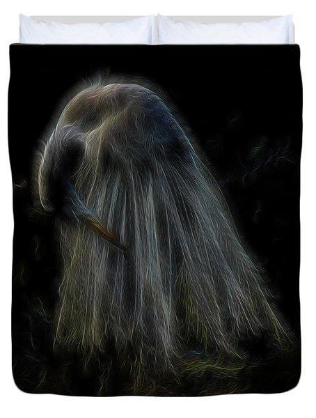 Passion Of Prayer Duvet Cover by William Horden