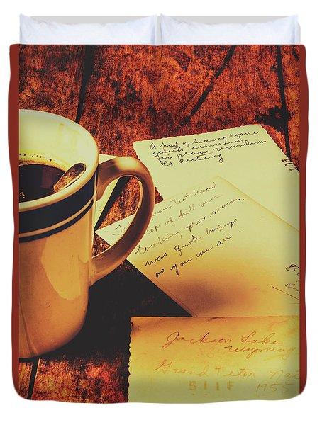 Past Postcard Preoccupations  Duvet Cover
