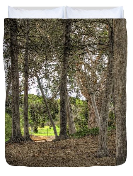 Past The Beach And Through The Trees Duvet Cover