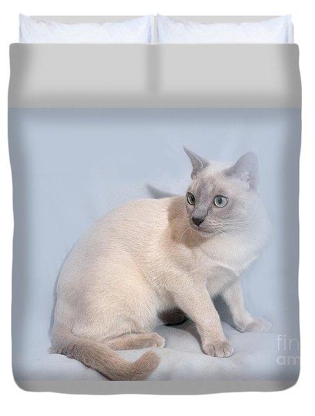 Pastel Angel Kitty Duvet Cover