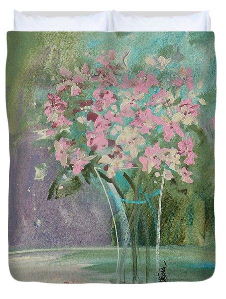 Pastel Blooms Duvet Cover