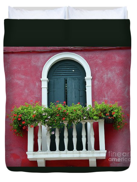 Pastel Colors Of Burano  Duvet Cover