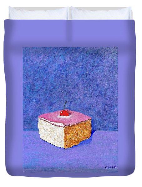 Pastel De Color Rosa Mexicano Duvet Cover