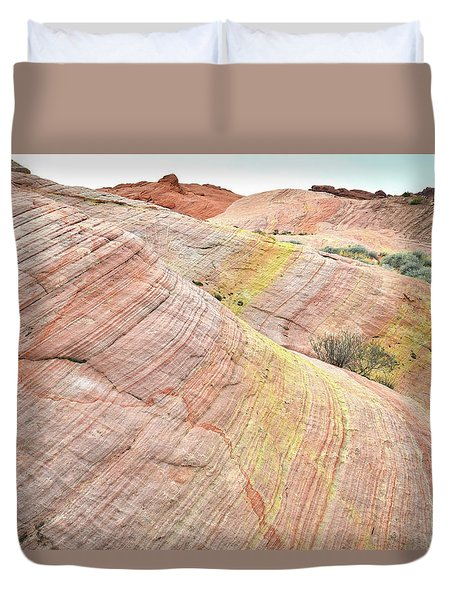 Duvet Cover featuring the photograph Pastel Dunes In Valley Of Fire by Ray Mathis