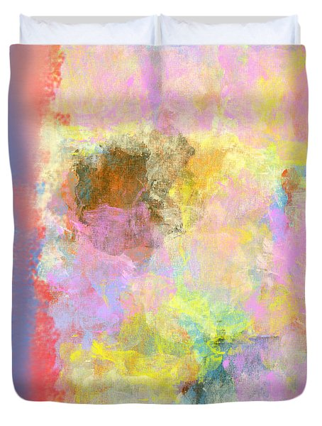 Pastel Flower Duvet Cover by Jessica Wright