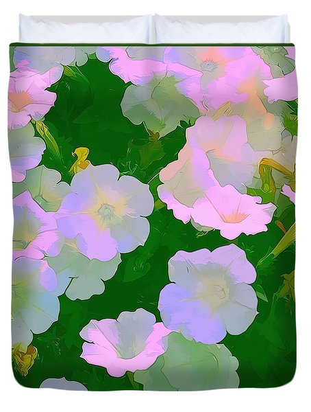 Duvet Cover featuring the photograph Pastel Flowers by Tom Prendergast