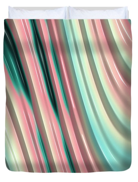 Duvet Cover featuring the photograph Pastel Fractal 2 by Bonnie Bruno