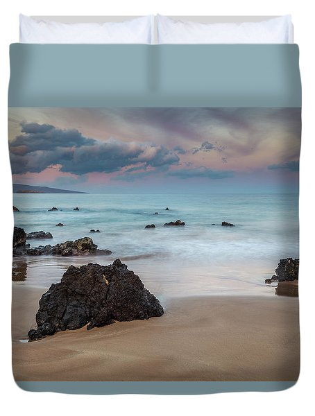 Pastel Hawaii Sunrise Duvet Cover