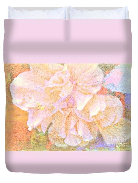 Pastel Hibiscus Duvet Cover
