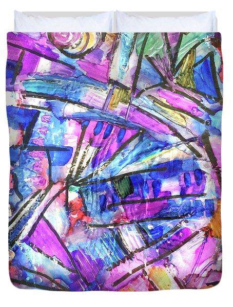 Pastel Kaleidoscope Duvet Cover