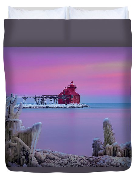 Pastel Lighthouse Duvet Cover
