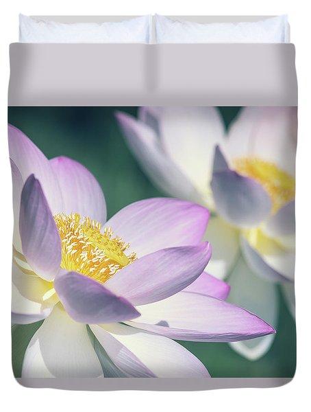 Pastel Lotus Duvet Cover