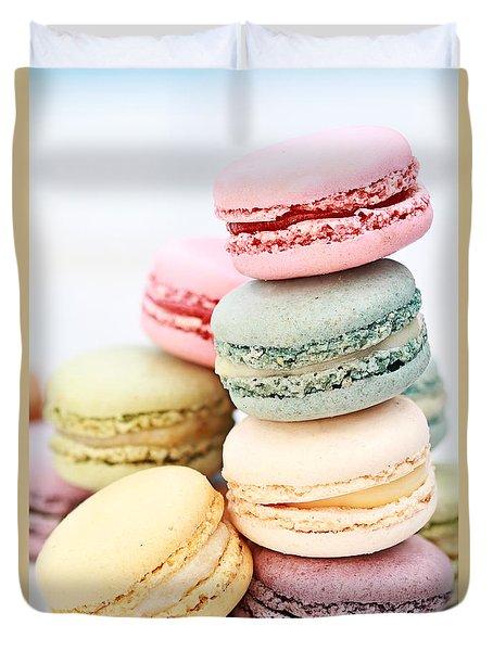 Pastel Macarons Duvet Cover