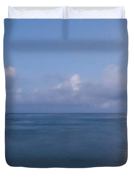 Pastel Moonset Duvet Cover by Roger Mullenhour