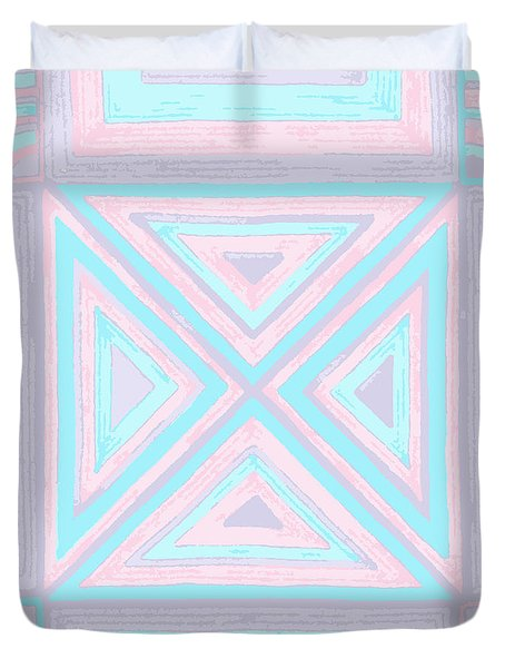 Pastel Patchwork Duvet Cover
