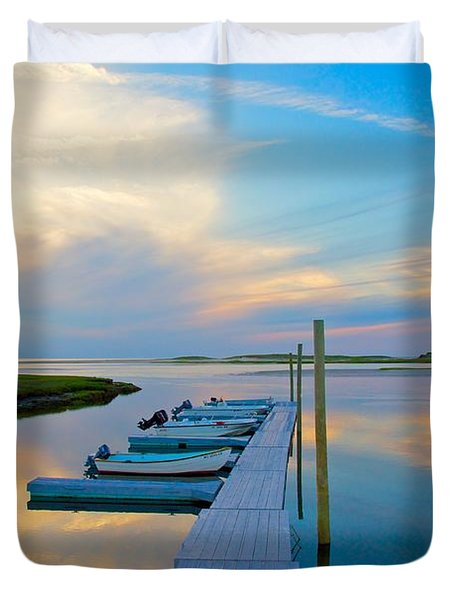 Pastel Reflections On Cape Cod Duvet Cover