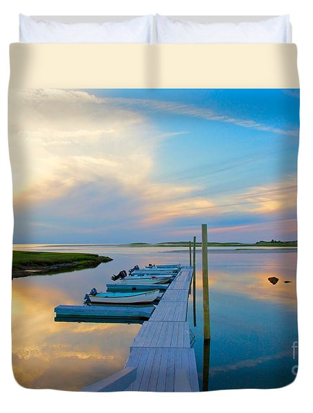 Pastel Reflections On Cape Cod Duvet Cover by Amazing Jules