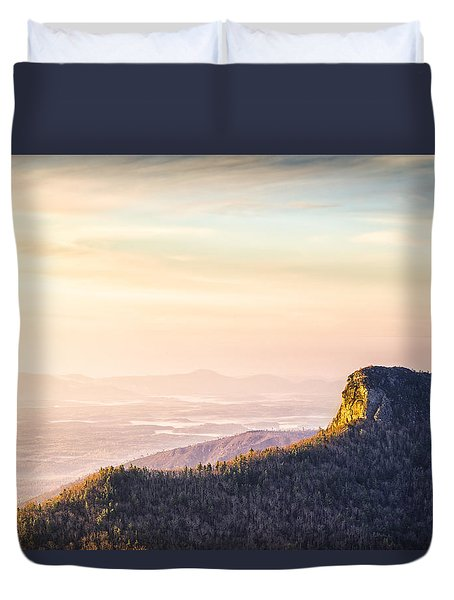 Table Rock Mountain - Linville Gorge North Carolina Duvet Cover
