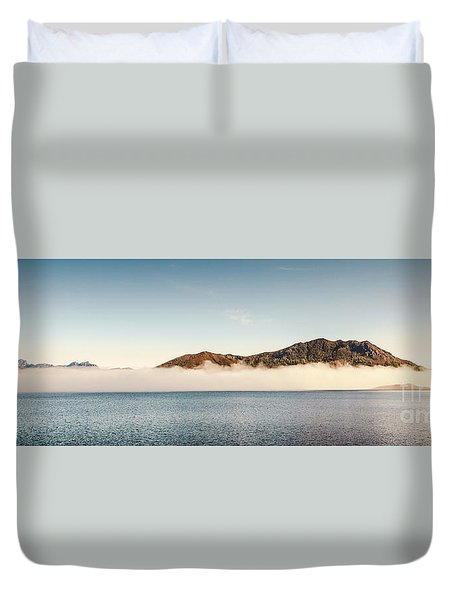 Pastel River Panorama Duvet Cover