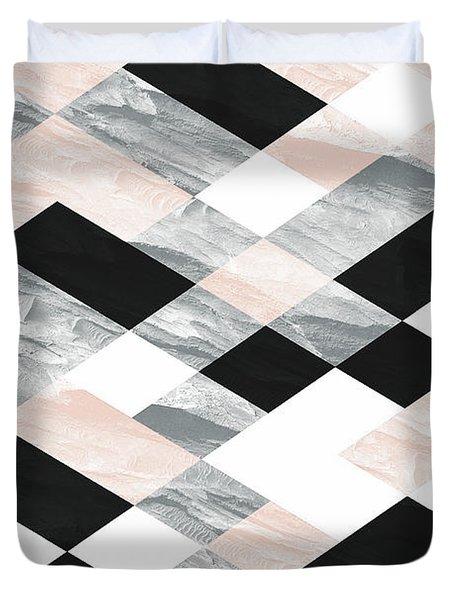 Pastel Scheme Geometry Duvet Cover