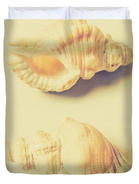 Pastel Seashell Fine Art Duvet Cover