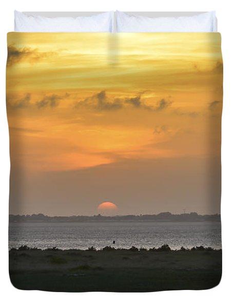 Duvet Cover featuring the photograph Pastel Sky by Debra Martz