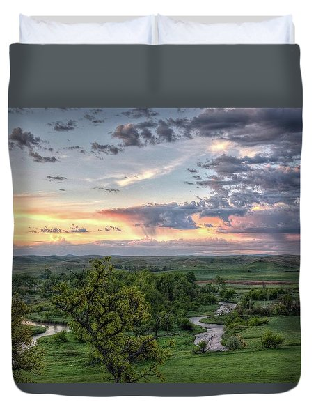 Pastel Spring Morning Duvet Cover
