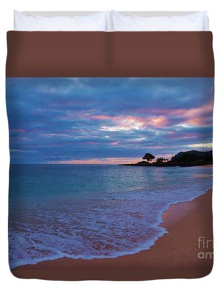 Pastel Sunset Ma'ili Duvet Cover