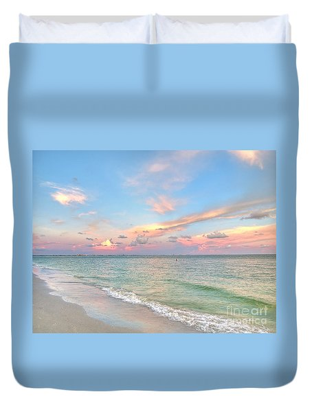 Pastel Sunset On Sanibel Island Duvet Cover