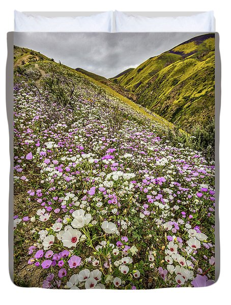 Pastel Super Bloom Duvet Cover by Peter Tellone