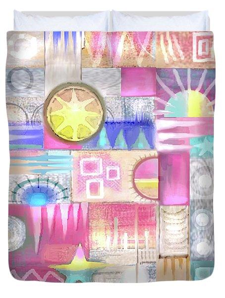 Pastel Symmetry Duvet Cover