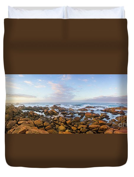 Pastel Tone Seaside Sunrise Duvet Cover