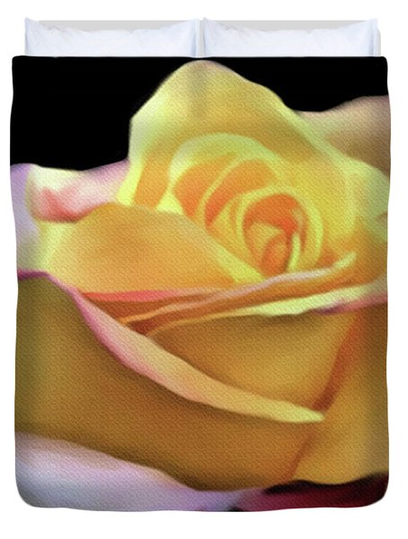 Pastel Yellow Rose Canvas Proofed Duvet Cover