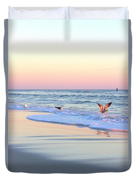 Pastels On Water Duvet Cover by Faith Williams